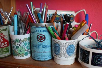 Pencil pots