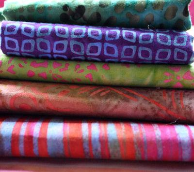 Batiks pile of